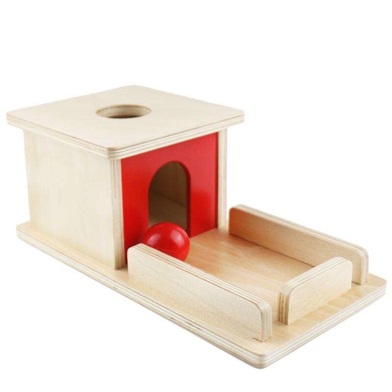 Montessori de madera práctico Montessori objeto permanencia caja con bandeja aprendizaje juguetes educativos para niños pequeños MI2744H