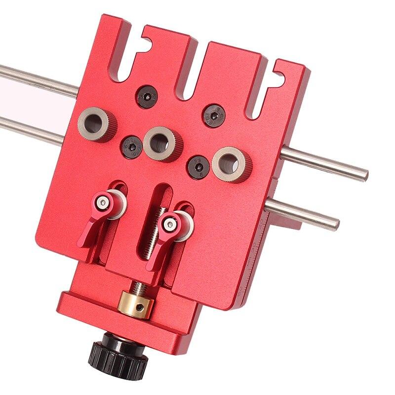 3 en 1 menuiserie trou perceuse perforateur positionneur Guide localisateur gabarit menuiserie système Kit alliage d'aluminium bois travail bricolage outil - 4