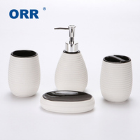 Simple Bathroom four Ceramic sanitary supplies ware Cup toothbrush holder soap dispenser copo sabonetei Articulos sanitarios ORR