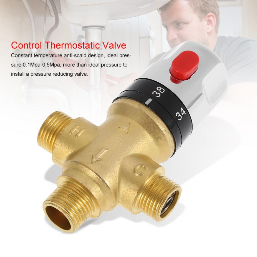 Image 4 - Brass Thermostatic Mixing Valve Bathroom Faucet Temperature Mixer Control Thermostatic Valve Shower Mixing ValveValve   -