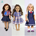 Doll Accessories edding Dresses, school uniforms for18 Inch 45cm American girl give the girl a gift
