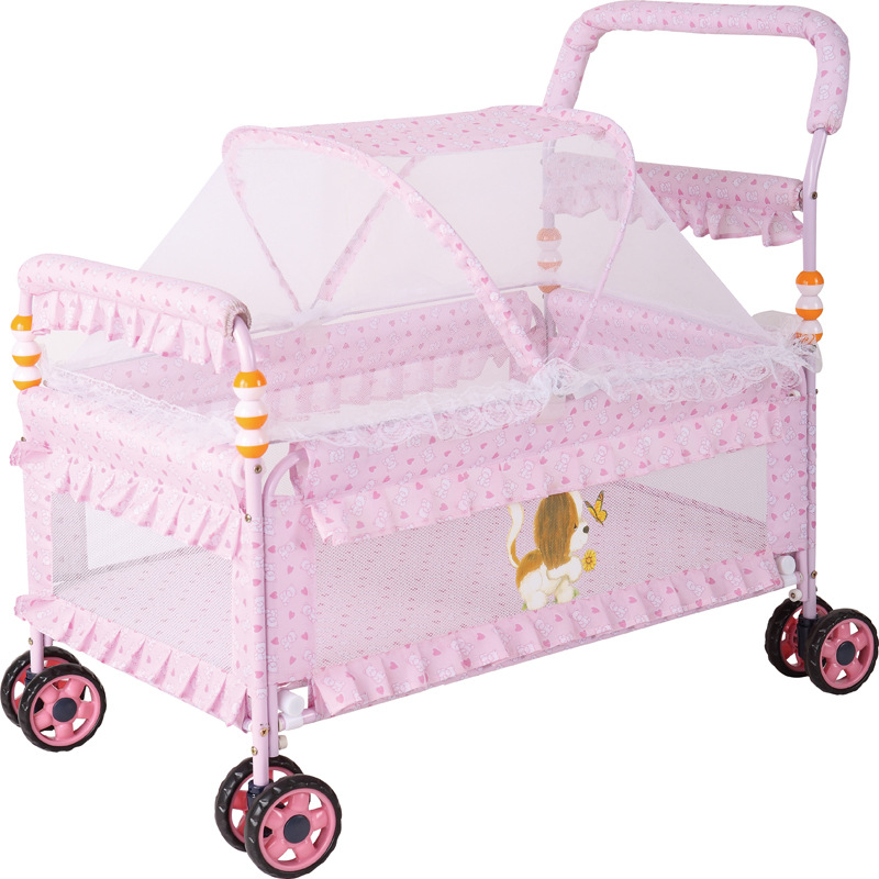 European Crib Portable Multi-function Iron Bed Baby Bed Environmental Protection Newborn Children's Bed Cart Baby Nest