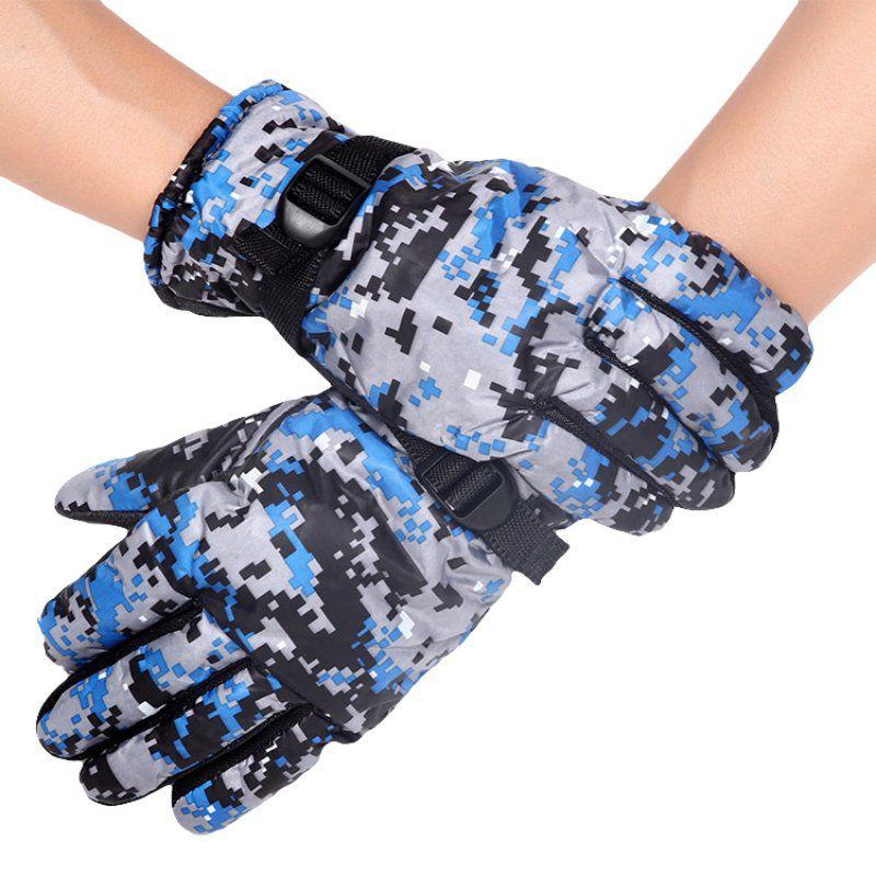 1 Pair Winter Warm Windproof Motorcycle Ski Gloves Comfortable Adjustable Full Finger Gloves Unisex Snowboard Gloves Skiing