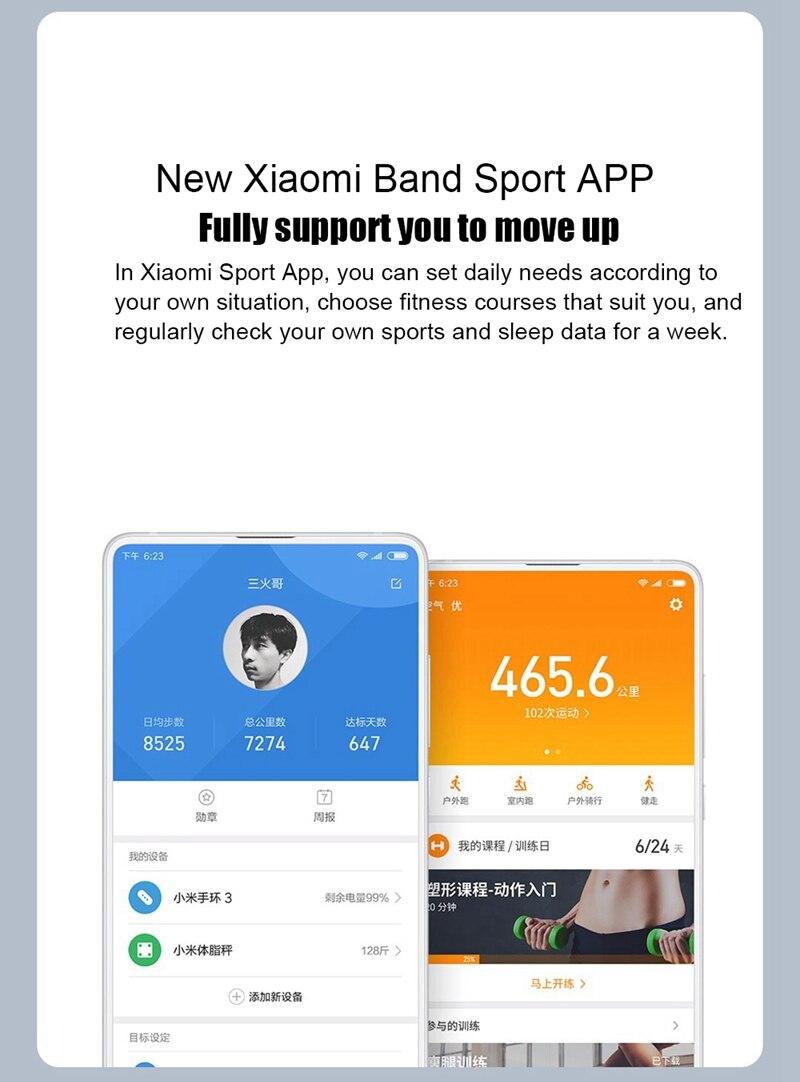"Original Mi Band 3 Fitness Tracker Smart Bracelet 0.78""Color Screen 5ATM Waterproof Heart Rate Monitor Global Smartband In Stock 25"