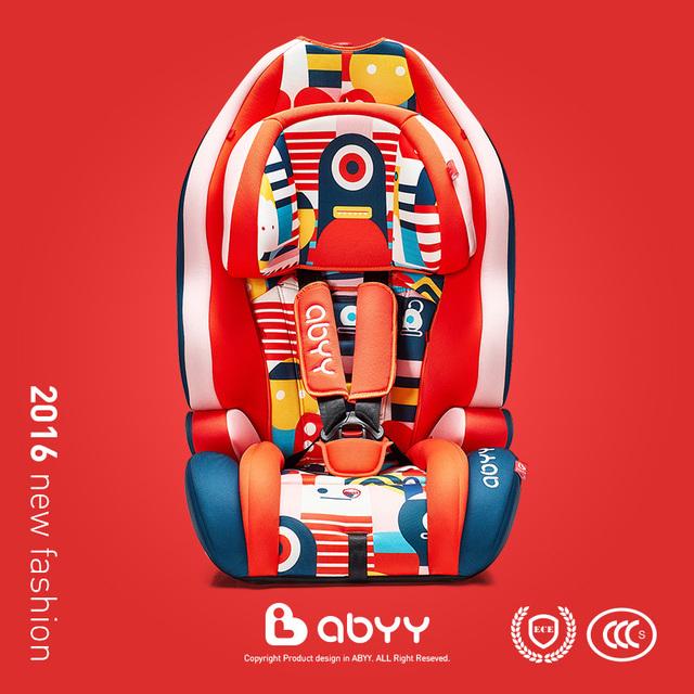 Abyy asientos de seguridad infantil bebé sentado asiento de coche asiento de seguridad infantil 9 kg-36 k niño con certificación CCC de LA CEPE