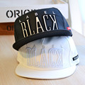 NEW Fashion brand Mens Womens Black Snapback Hats Couples baseball caps Adjustable Sweetheart Flat brim Hip-hop Caps/Hats