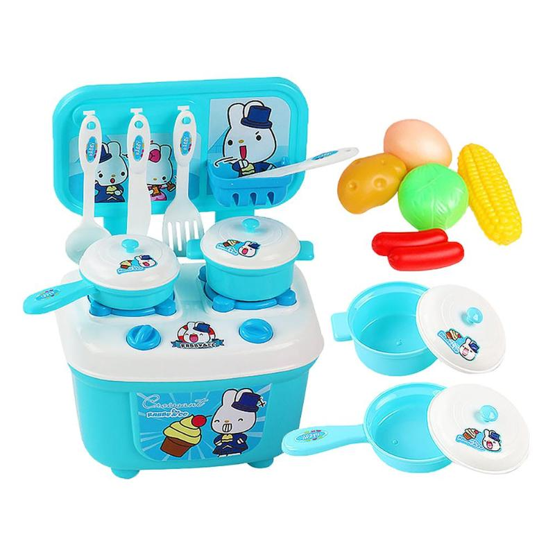 Kitchen Toys 100% Quality 16pcs/set Child Tablewares Kitchen Utensils Toys Plastic Kitchen Replica Toys For Boys Girls Cooking Playing House Tools Toys Clear And Distinctive