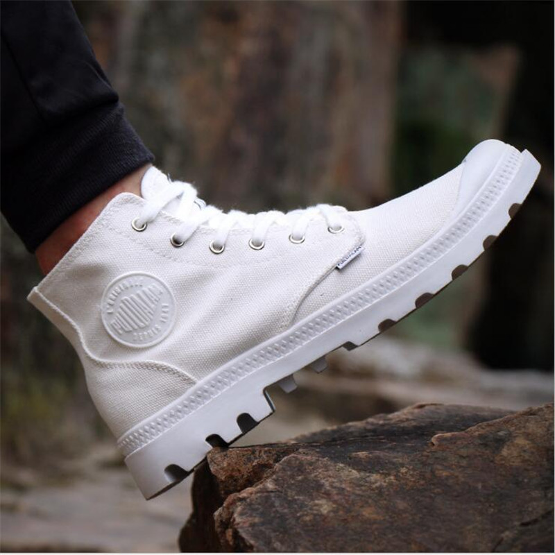 2018 New Men High Quality Canvas Shoes Fashion High top Men's Casual Shoes Breathable Canvas Man Lace up Brand Shoes Size 39-44 canvas shoes men breathable lace up flats high top men s casual shoes high quality male canvas shoes trainers zapatillas hombre