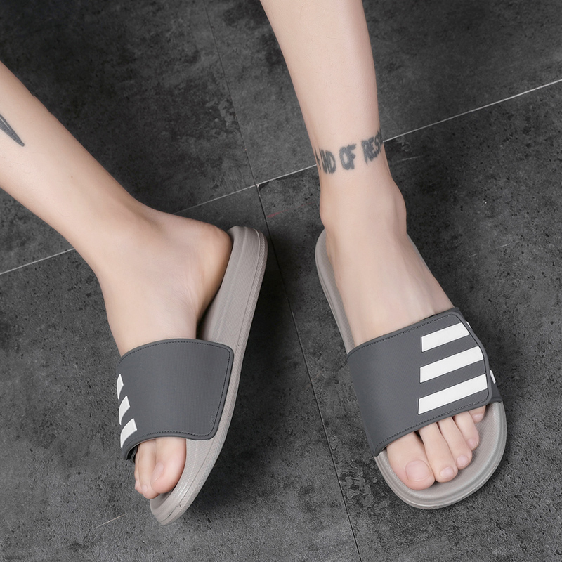 ROMMEDAL Couple Unisex Summer Slippers  Indoor PVC Men Women Hook&loop Outdoor Sandals Lightweight Comfortable Soft Footwear