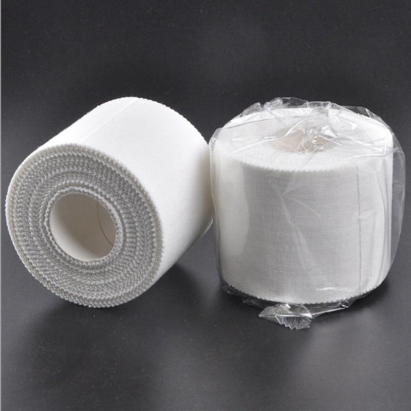 Self Adhesive White Bandage Elastic Stretch Wrap Tape Hand Wrist Finger Thumb First Aid Kit Sports Emergency Kits