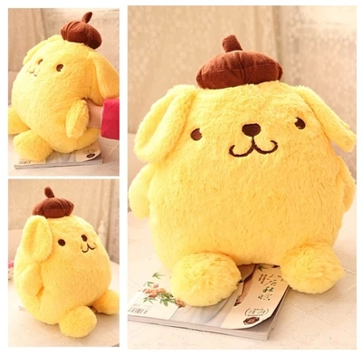 candice guo! super cute plush toy pom pom purin yellow pudding dog soft stuffed cushion hand warmer birthday Christmas gift 1pc pom pom decorated glitter clip 1pc