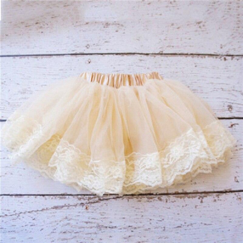 Принцесса Малыш Девушка Многослойная Тюль Партия Танца Юбка Короткие Торт Юбки Балетной Пачки 2-8Y