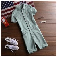 New Arrival Summer 2017 Men Shorts Bib Overalls Casual Slim Solid Color Men S Jumpsuit Costumes