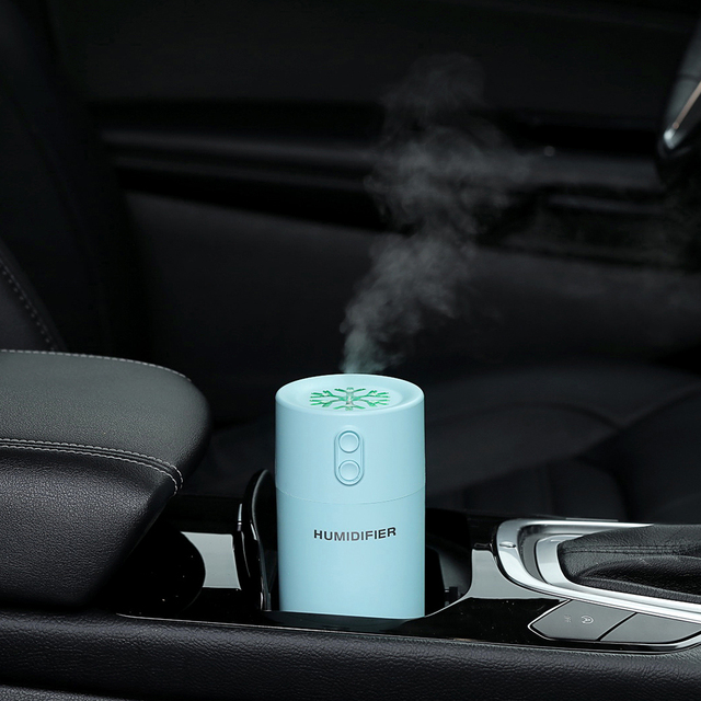 Mini Air Humidifier Essential Oil Diffuser with USB Led Light and Mini Fan Mist Maker Fogger Electric Car Aroma Diffuser USB Beauty Tools