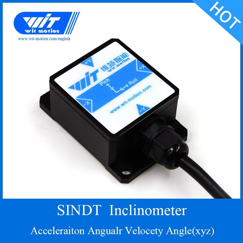 SINDT IMU Gyro Sensor 2 axis Dgital Tilt Angle Roll Pitch Output Inclinometer IP67 Waterproof Anti