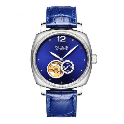 Parnis DIPPER Seriers font b Women b font Leather Watchband Fashion Automatic Mechanical font b Watch