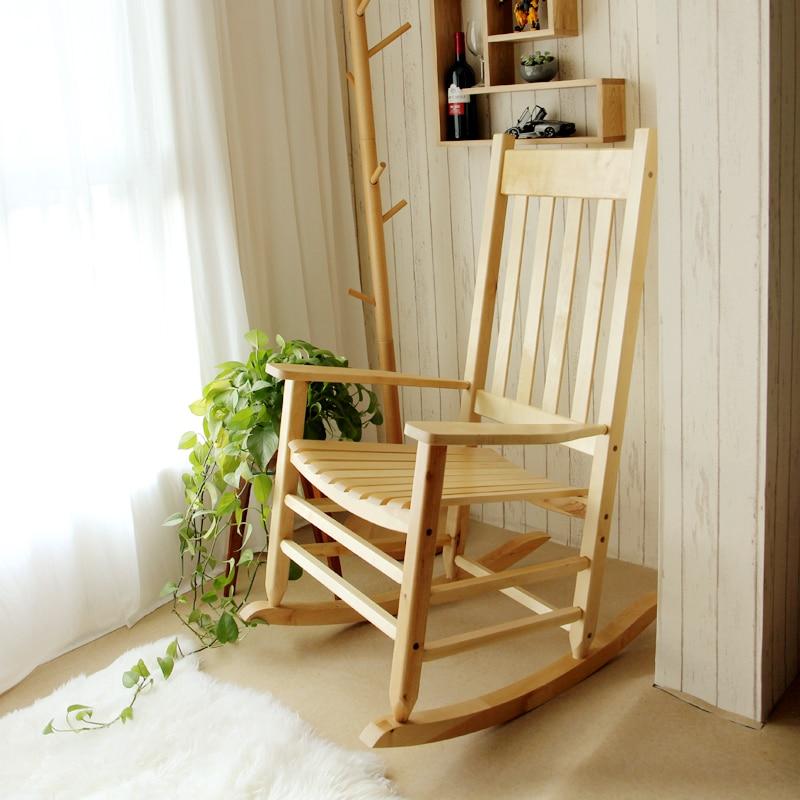 Rocking Chair Wood Presidential Rocker Lving Room Furniture Modern Style Adult Large Rocker Rocking Chair Indoor/Outdoor Design