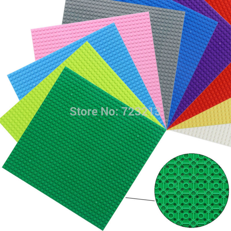 25x25cm 9.8'' Base Plate 32x32 dots Small Bricks Baseplate City Building Blocks Toys Accessories Compatible with Legoingly new 2017 updated version small bricks base plate 32 32 dots 25 5 25 5cm 10x10 diy building blocks baseplate toy figures 14 col