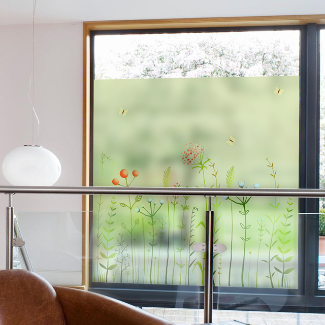 1pc Diy Home Static Decor Cling Stained Cover Window Film Gl Privacy 45 200cm