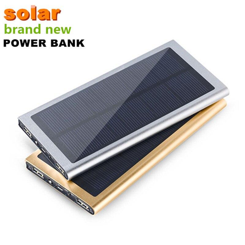 imágenes para Ultrafino de Doble USB 10000 mah Impermeable cargador Solar Solar Power Bank Cargador Portátil de Batería Externa para el Teléfono Envío gratis