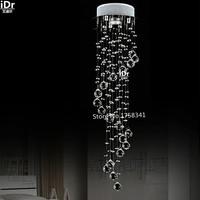 Factory Direct Sale Crystal Ceiling Lights New Modern Spiral Stair Lamp Balcony Decorative Lighting BR RU