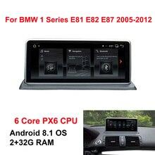 Android 8,1 автомобиль gps навигационная система, стереомагнитола радио для BMW E81 E82 E87 E88 6-Core Процессор 2005 + 2 + 32G Оперативная память ips мультимедиа сенсорного экрана плеер BT