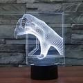 Multicolor 3D Dinosaur Garra Mood Lámpara de Iluminación Dormitorio Luz de noche Led Inicio Decorativo Fiesta de navidad