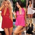 Feitong Mulheres Lingerie Sexy Espartilho Com a G-corda 2 Peça Set Vestido Sleepwear Lingerie Plus Size XXL Frete grátis & Dropshipping