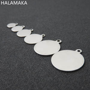 6/8/10-/.. Jewelry-Accessories Blank-Disc Stainless-Steel Charm-Pendant Round DIY