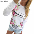 Women Blouses Flower Top Print Sweatshirt Long Sleeve Loose Blouse Women Clothes Spring Tops Femme Vetement Femme Roupas#159