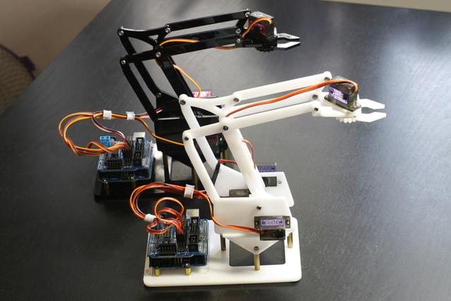4DOF pequeno robô braço mão miniArm uArm Arduino robot DIY Fabricante de kit acrílico braço mecânico