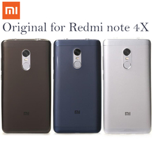 "100% Originele Xiaomi Redmi Note 4X Gevallen TPU Telefoon Achterkant hongmi note 4x Note4 x 4 Global zachte Case volledige Cover Beschermen 5.5"""