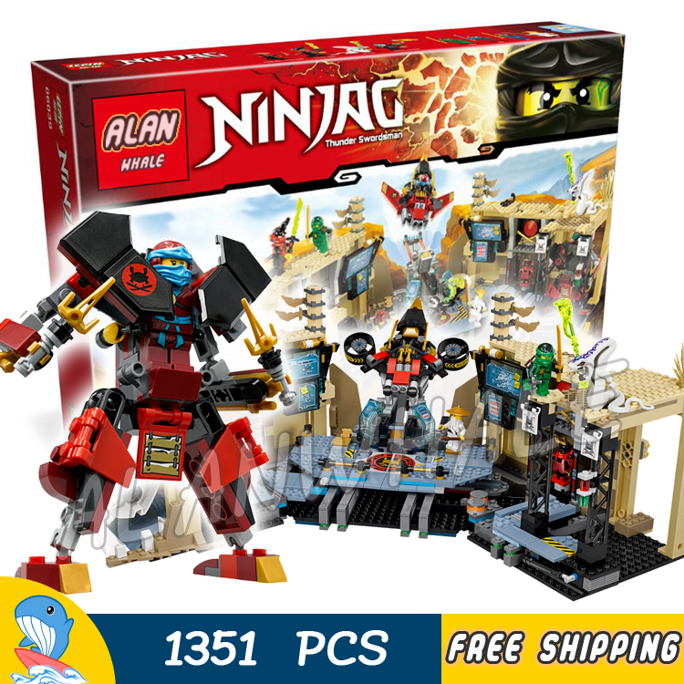 ФОТО 1351pcs Bela 06039 Ninja Samurai X Cave Chaos Building Blocks Jay Lloyd Toys Compatible With lego