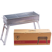 Custom portable folding charcoal barbecue bbq stove grill
