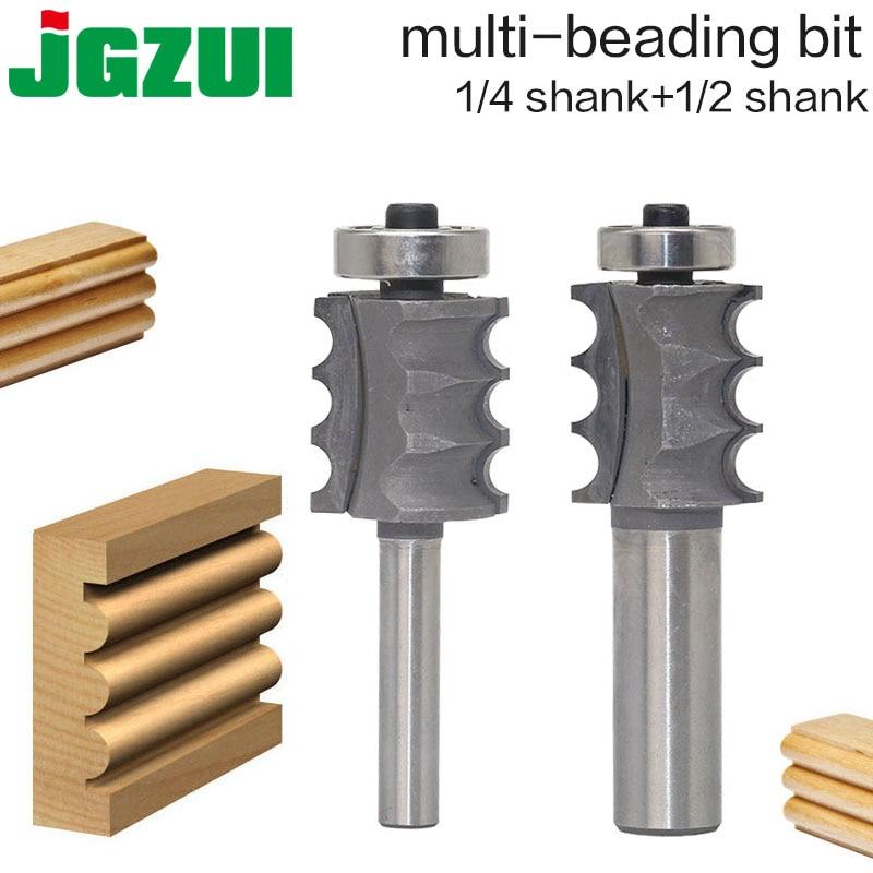 1PC 1/4 1/2 Shank High Quality Triple Bead/ Column Molding Router Bit 1PC 1/4 1/2 Shank High Quality Triple Bead/ Column Molding Router Bit