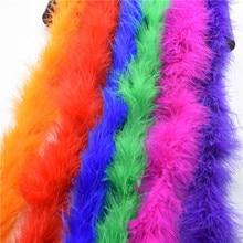 Красивые Боа Из пера индейки 1 шт./лот 2 м Длина для бурлеск нарядное платье Вечерние DIY Перья для рукоделия Различные цвета доступны