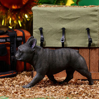 2 Models 1/6 Scale Animal High Simulation Animal French Bulldog Pet Dog For 12'' Action Figure Body Doll Accessories