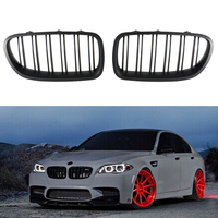 Mayitr 1 Pair Matte Black Front Grill Grille Kidney For BMW F10 5 Series 520i 523i