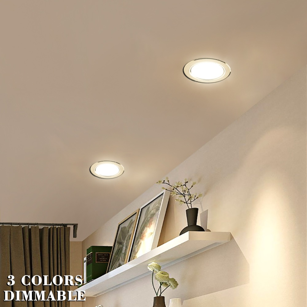 10//6//2x 5W 24W LED Ceiling Downlights Recessed Spotlights Slim Wall Panel Light