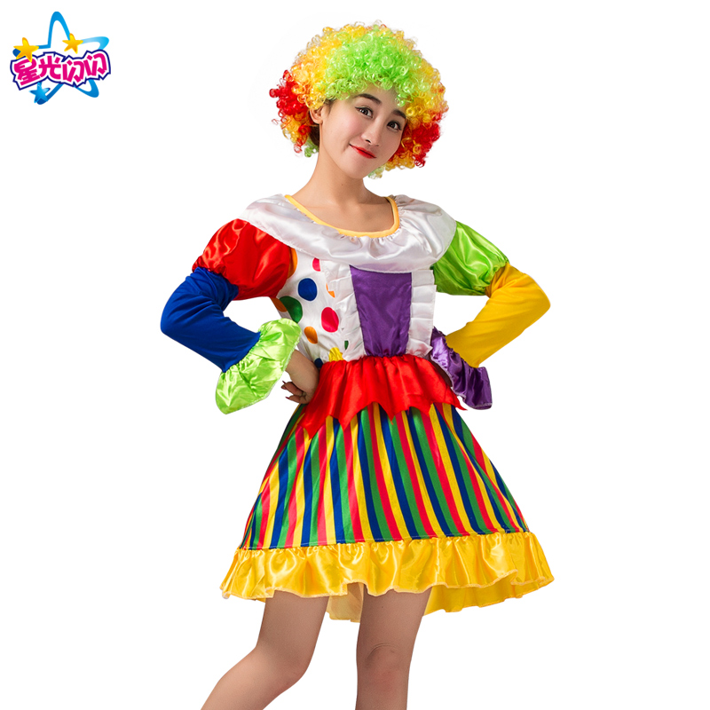 NoEnName Gratis forsendelseHoliday Cosplay Party Dress Up Clown Suit - Kostumer - Foto 4