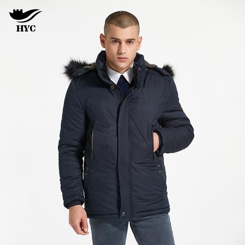 HAI YU CHENG Snow Wear Winter Jacket Men Thick Coat Fur Collar Parka Men Coat Male Jacket Man Winter Jackets Imported Clothing