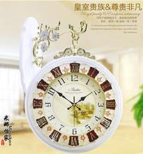Large fashion mute double faced clock modern quartz watches and clocks brief fashion living room wall clock