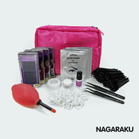 NAGARAKU NEW Eyelashes Extension Kit For Starter Fashionable Eyelashes Extension Set With Glue Eye Pad Tape