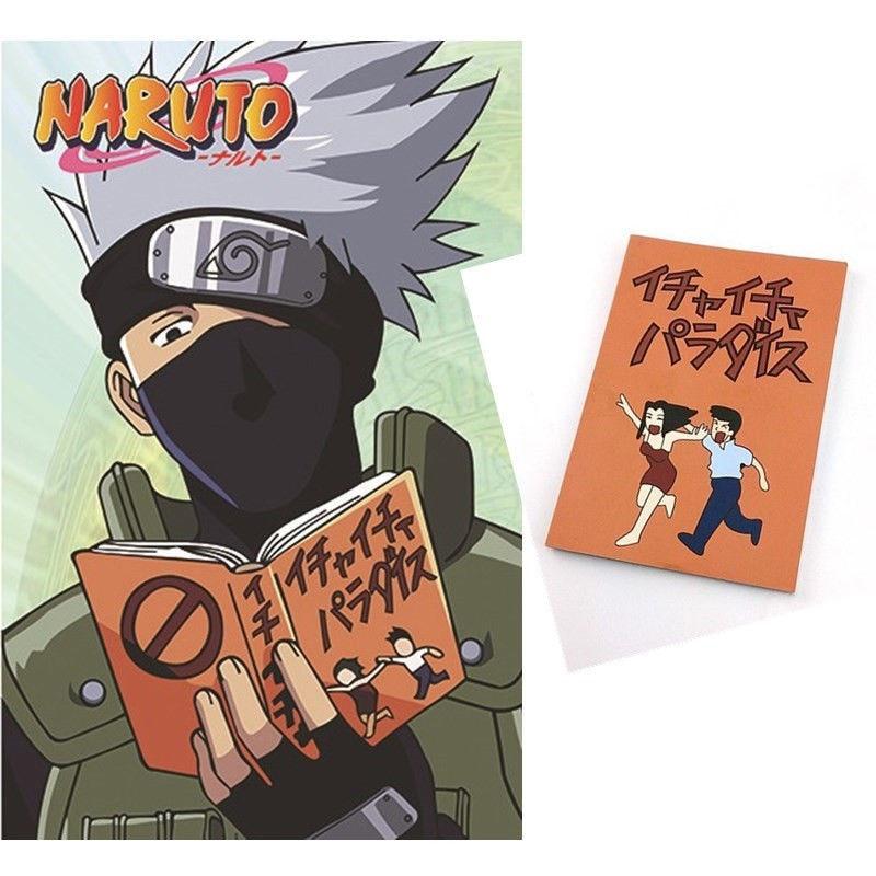 Anime Naruto Kakashi Hatake Jiraiya Cosplay Book Notebook Icha Icha Paradaisu ...