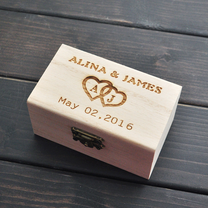 Rustic Wedding Ring Bearer Box Personalized Wedding Ring Box