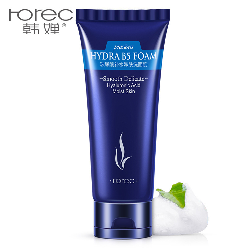 HOREC hyaluronic acid facial cleanser 100g moisturizing whitening oil control acne beauty skin care products skin Deep cleansing