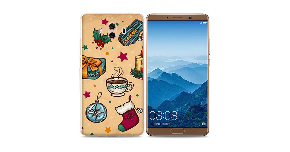 Lovely Christmas Snowman Style Hard Transparent Phone Cover Case For Huawei Mate10 Mate10 Lite P10 P8 P9 Lite