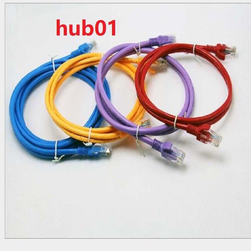 Hub01 15 cm 25 cm 50 cm 1 m 3ft câble court CAT6 plat câble réseau Ethernet UTP câble RJ45 Patch LAN couleur noir blanc