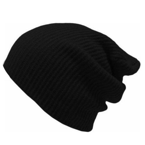Mens Women Hat Knitted Woolly Winter Oversized Slouch Beanie Hats Cap skateboard Black hot winter beanie knit crochet ski hat plicate baggy oversized slouch unisex cap