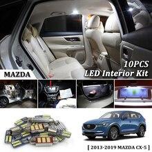 10 Pcs Bianco Canbus led Auto luci interne Kit di aggiornamento per 2013-2017 2018 2019 Mazda CX-5 CX5 led interno Della Cupola luci Tronco